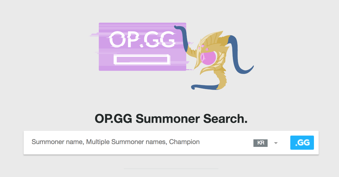 opgg summoner search